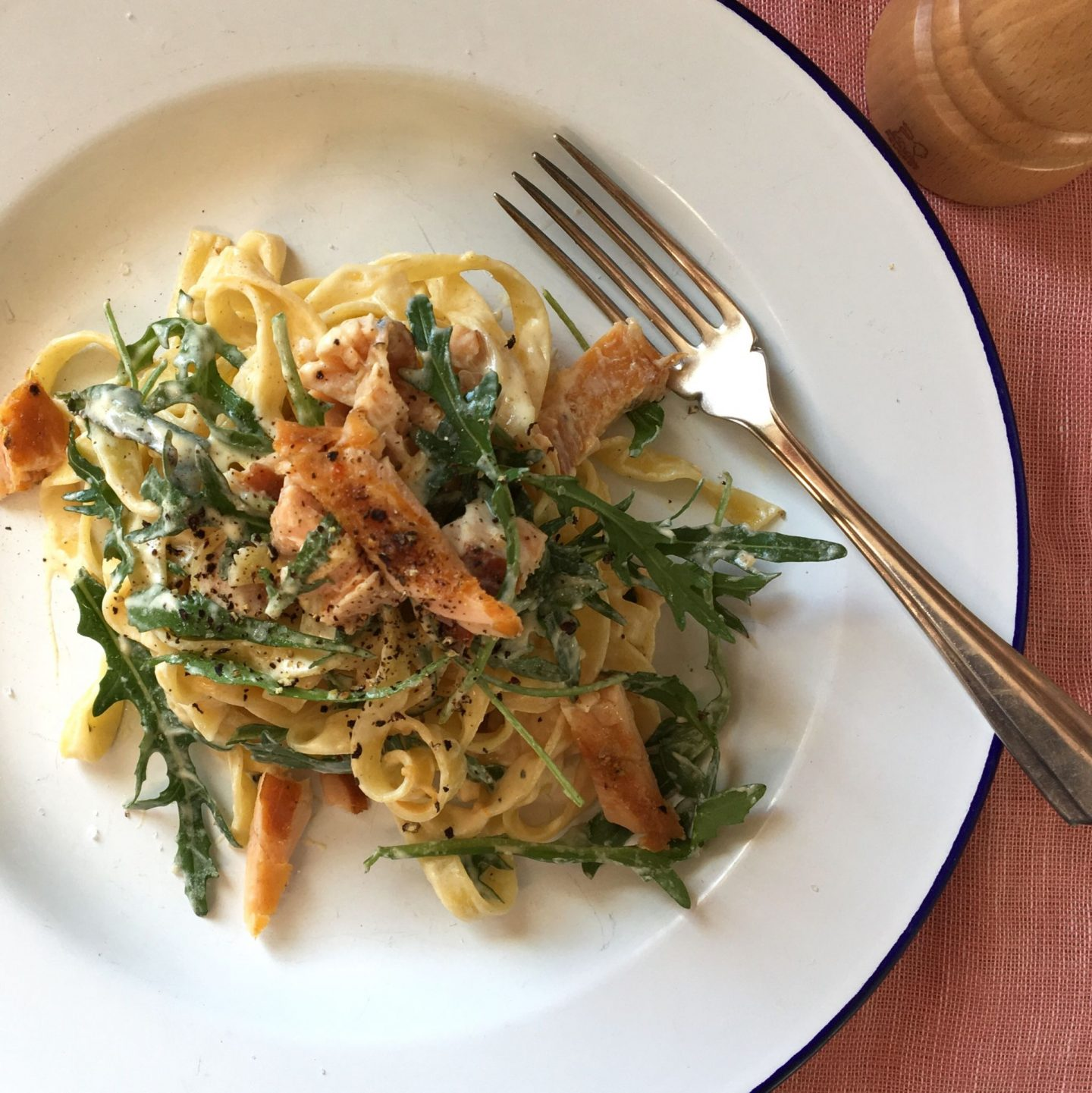 Smoked Trout Pasta